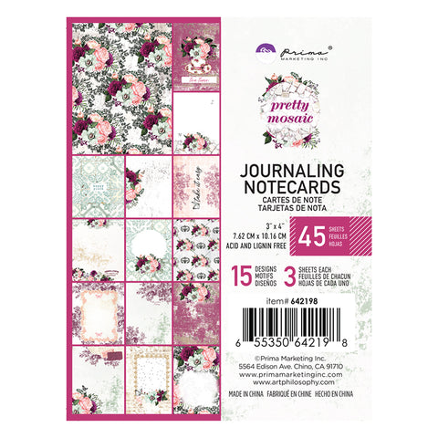 Pretty Mosaic 3x4 Journaling Cards