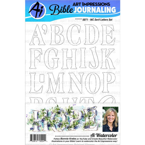 Bible Journaling Serif Letters Cling Rubber Stamps