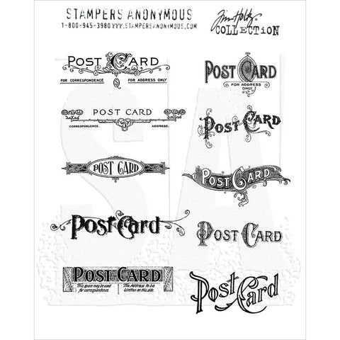 Tim Holtz Mini Postcards Cling Stamps