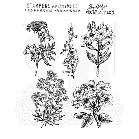 Tim Holtz Illustrated Garden Cling Stamps