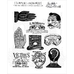 Tim Holtz Eclectic Adverts Cling Stamps