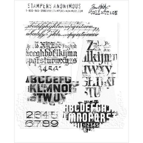 Tim Holtz Faded Type Cling Stamps