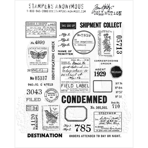 Tim Holtz Field Notes Cling Stamps