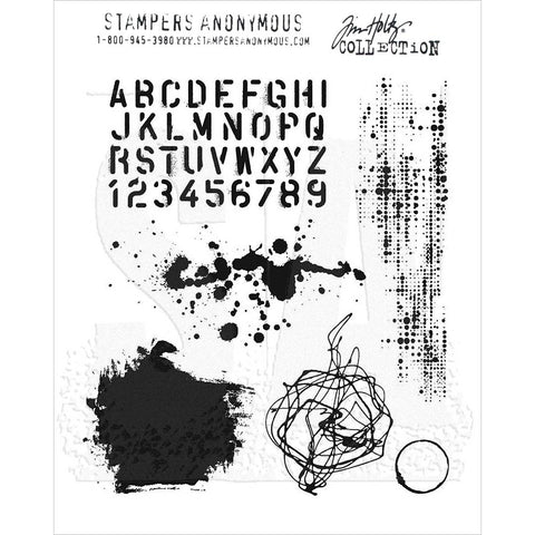 Tim Holtz Grunged Cling Stamps