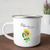Bloom Where You Are Planted Mug with Sunflower on Wood Platform