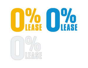 0% Lease WINDSHIELD STICKER