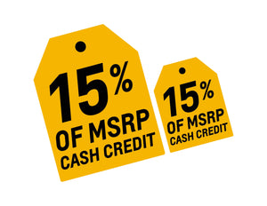MSRP CASH CREDIT - WINDSHIELD STICKER