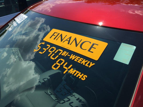 CUSTOM FINANCING OFFER - WINDSHIELD STICKER