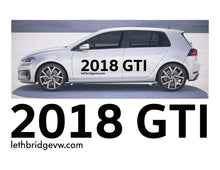 Load image into Gallery viewer, 2018 GTI  SIDE GRAPHICS