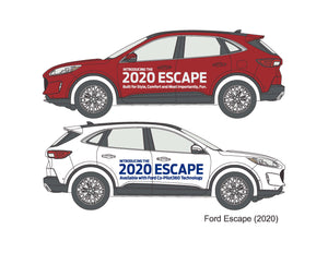2020 ESCAPE VEHICLE SIDE GRAPHICS