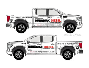 GMC SIERRA 1500 DIESEL - VEHICLE-SIDE GRAPHICS