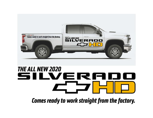 2020 SILVERADO HD LAUNCH - VEHICLE-SIDE GRAPHICS