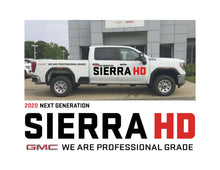 Load image into Gallery viewer, 2020 SIERRA HD LAUNCH - VEHICLE-SIDE GRAPHICS