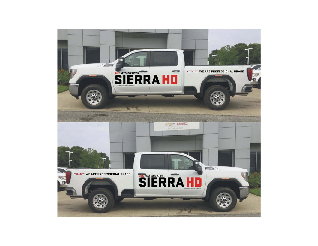 2020 SIERRA HD LAUNCH - VEHICLE-SIDE GRAPHICS