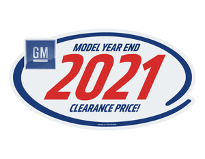 GM LOGO Clearance Sticker - 10 Pack