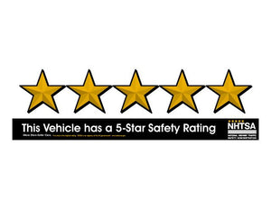 Windshield Stickers - NHTSA 5-STAR  Package of 10