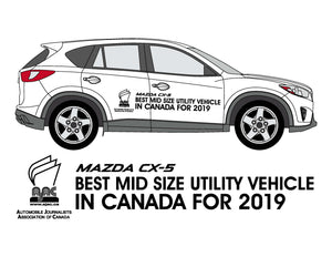 MAZDA 2019 AJAC CATEGORY WINNERS - Vehicle Side Graphics