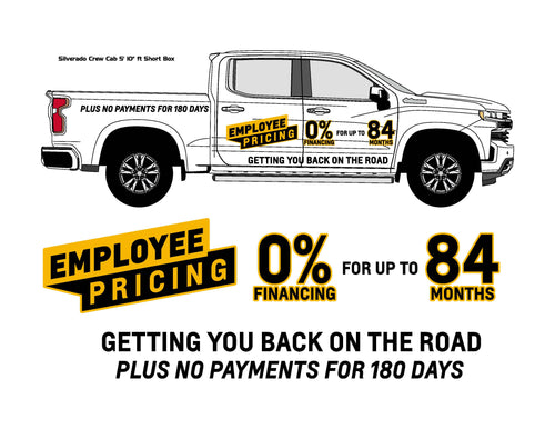 CHEVROLET EMPLOYEE PRICING | VEHICLE-SIDE GRAPHICS