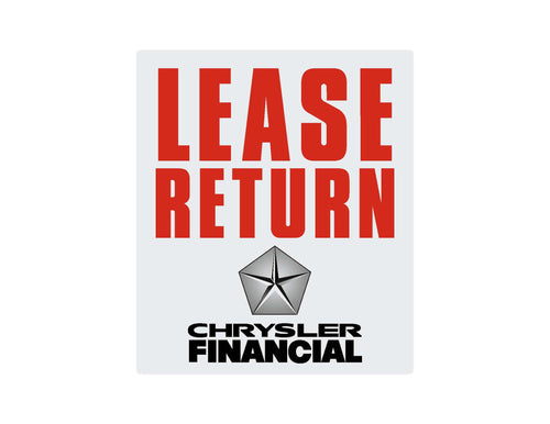 Lease Return Stickers