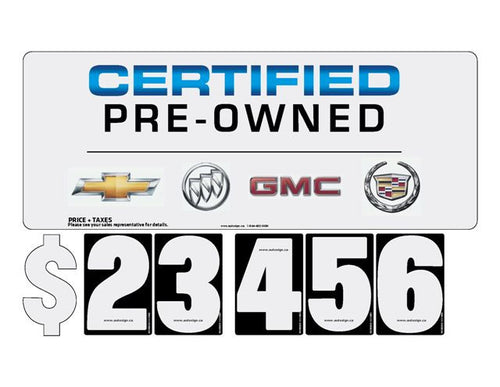 Standard PRICE SYSTEM - GM Canada Certified Pre-Owned