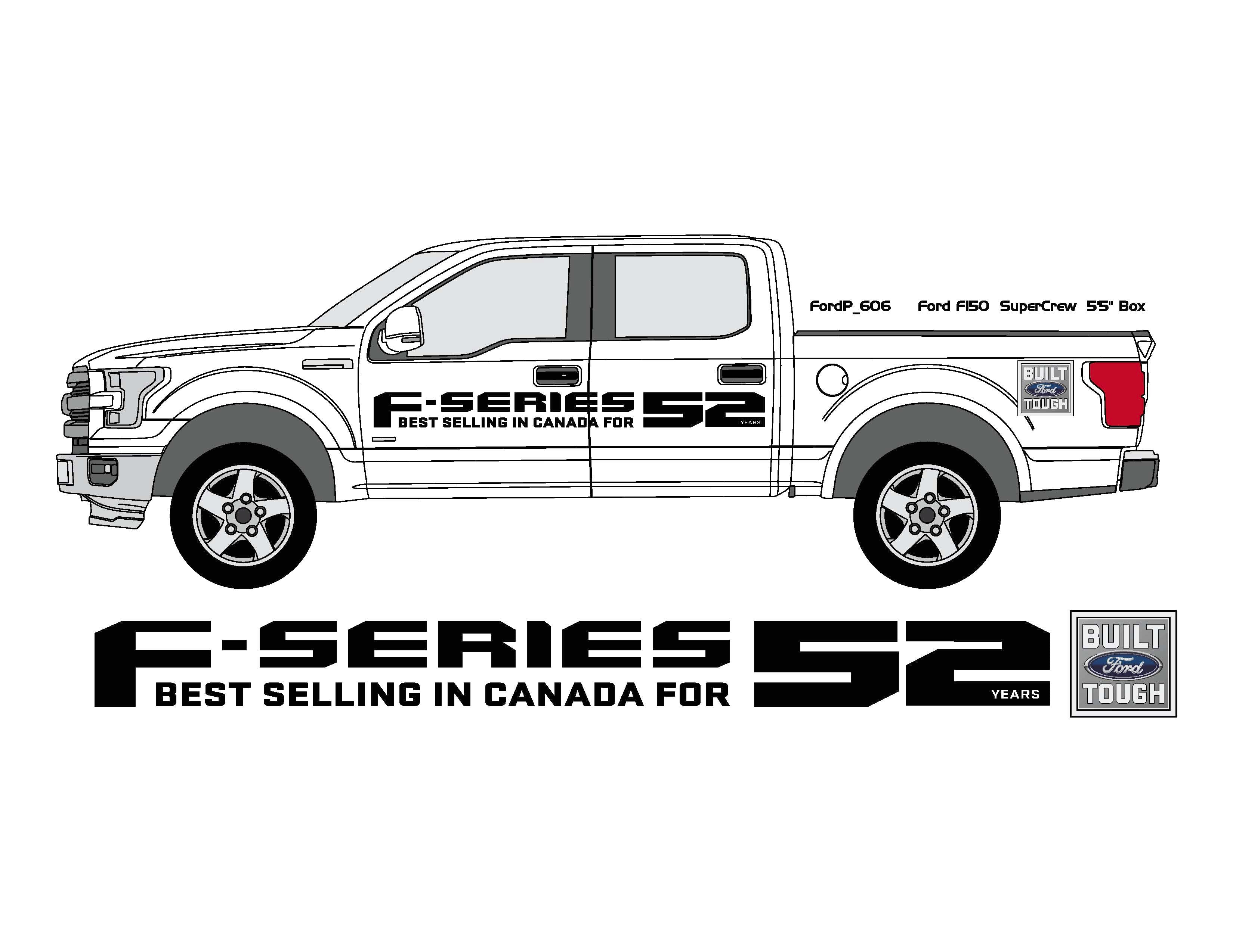 F series pickup side graphics