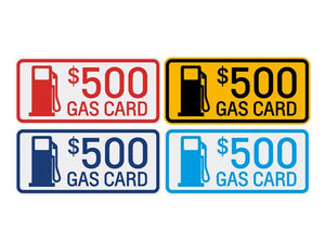Gas Card Windshield Sticker