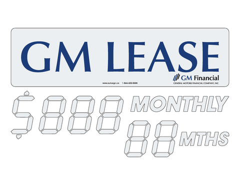 GM LEASE OFFER - MONTHLY PAYMENT SPECIAL