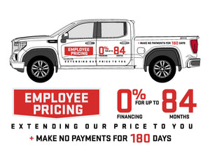 GMC EMPLOYEE PRICING | VEHICLE-SIDE GRAPHICS