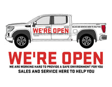 Load image into Gallery viewer, GMC WE'RE OPEN | VEHICLE-SIDE GRAPHICS