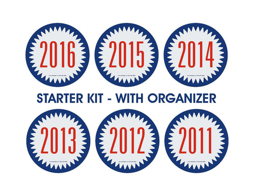 YEAR STICKER - STARTER KIT