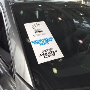 MAZDA - AJAC 2019 VERTICAL Windshield Sticker