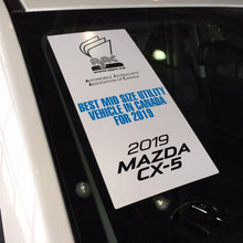 Load image into Gallery viewer, MAZDA - AJAC 2019 VERTICAL Windshield Sticker