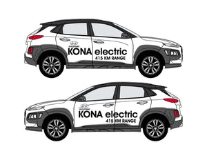 HYUNDAI KONA ELECTRIC GRAPHICS - Vehicle Side Graphics
