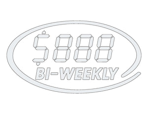 LCD - OVAL WINDSHEILD PAYMENT STICKER