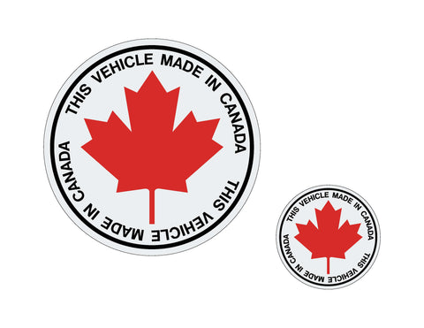 MADE IN CANADA - WINDSHIELD STICKER