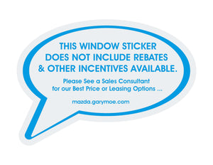 Incentive Add-On for The MSRP Sticker