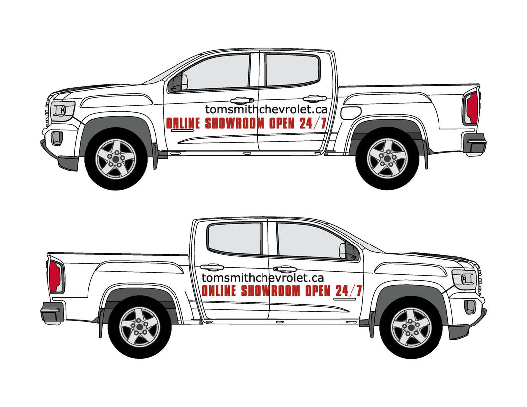 24/7 SHOWROOM | VEHICLE-SIDE GRAPHICS