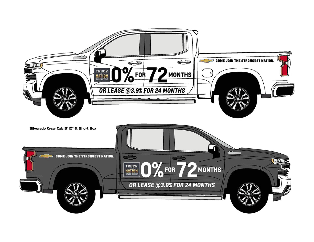 CHEVROLET TRUCK NATION PICKUP GRAPHICS