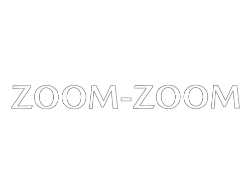 Zoom-Zoom Rear Window Graphic (New Font)