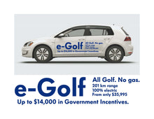Load image into Gallery viewer, e-Golf LAUNCH SIDE GRAPHICS #1