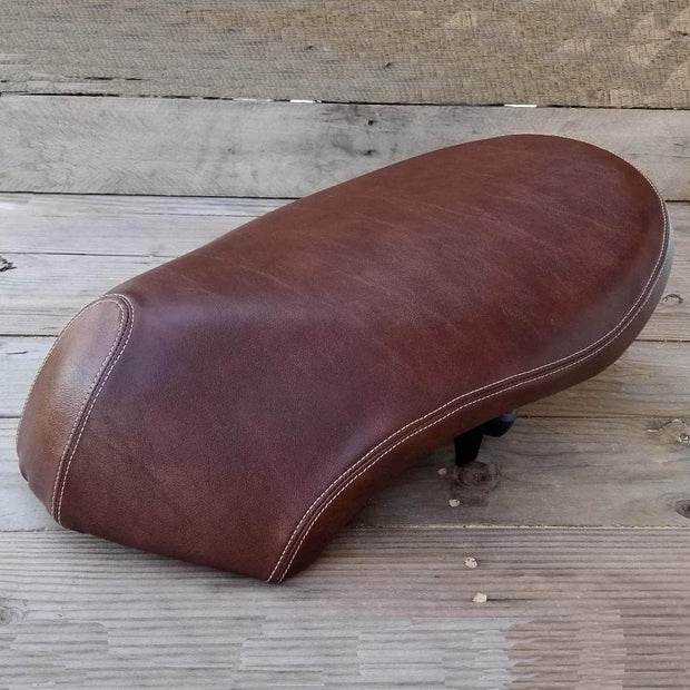 Honda Metropolitan CH50 Distressed Whiskey Brown Seat Cover French Seams