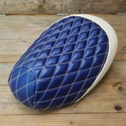Honda Metropolitan Blue Diamond Seat Cover by Cheeky Seats