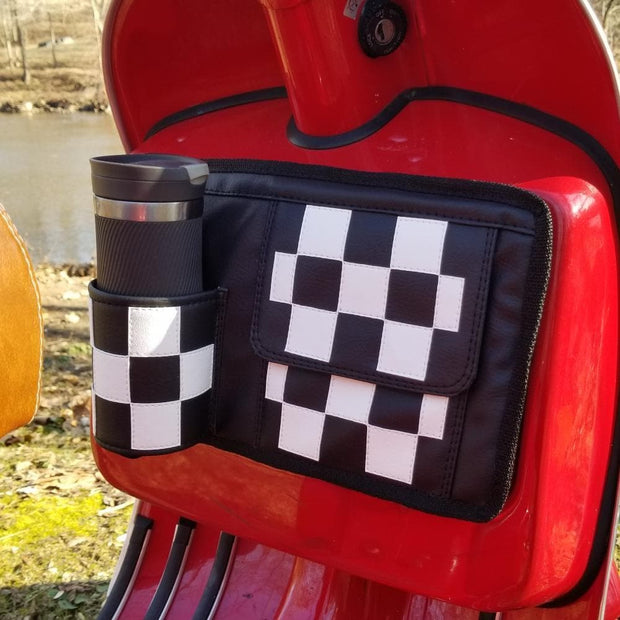 Checker Glove box bag and coozie Vespa Gifts Scooter Accessories