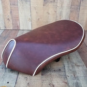 Honda Metropolitan Distressed seat cover with Piping Jazz Scoopy