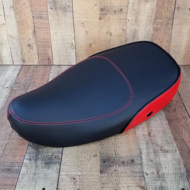 Vespa LX 40 125 150 Seat Cover Matte Black with Red