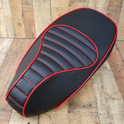 Vespa Sprint / Primavera Padded Black and Red Seat Cover