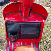 "Scooter Gifts Glove Box Bag Vespa Accessories, Black ""Flapjack"""