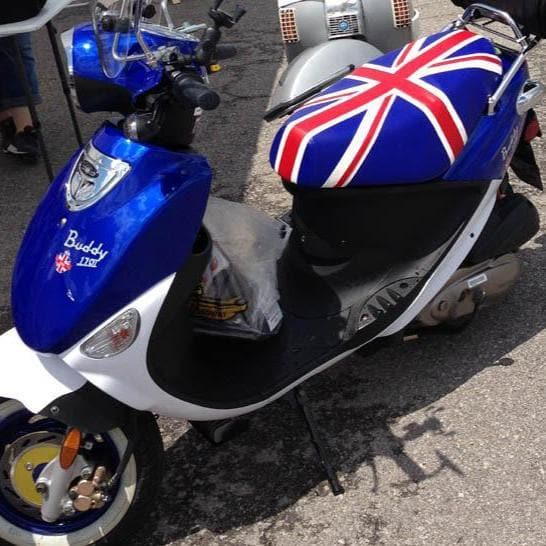 Genuine Buddy Union Jack Seat Cover
