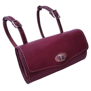 Burgundy Mini Leather Roll Bag for Vespa Kymco Genuine Scooters