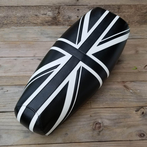Stella Seat Cover Black and White Union Jack by Cheeky Seats